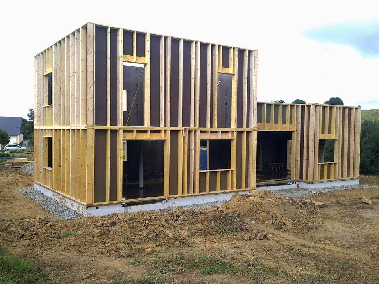 Construction d 39 une maison passive en bois for Entreprise construction maison bois