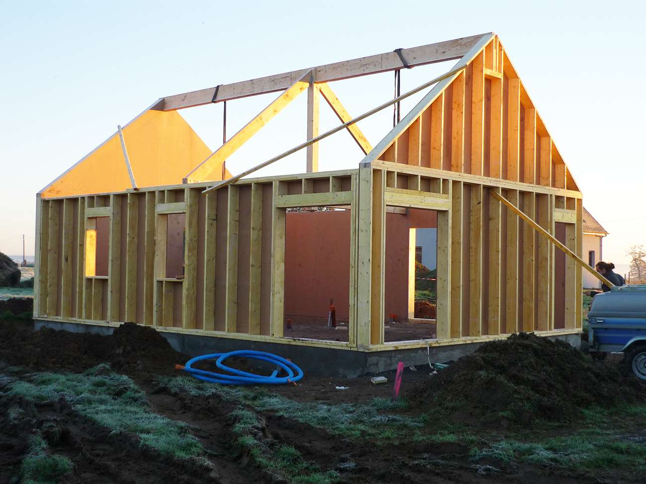 Construction d 39 une maison bbc bois des atouts financiers for Maison en bois bbc