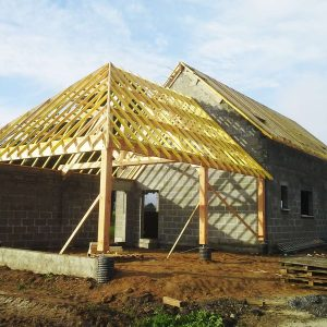 Construction d'une maison et d'une extension bois