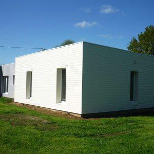 Bardages d'une maison passive à ossature bois